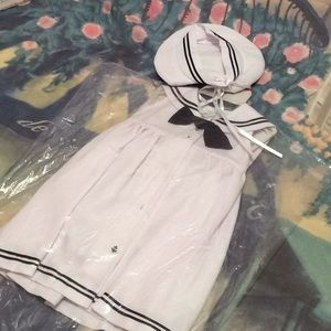 Other - Navy and white sailor dress complete with hat